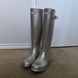 silver Hunter rainboots